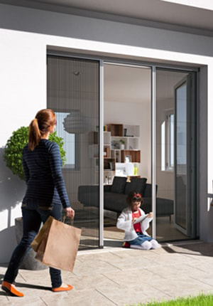 Venette Pleated screens are family friendly good looking and keep annoying bugs out min 1