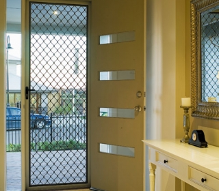 Amplimesh grille security door is a visual deterrant for unwanted visitors